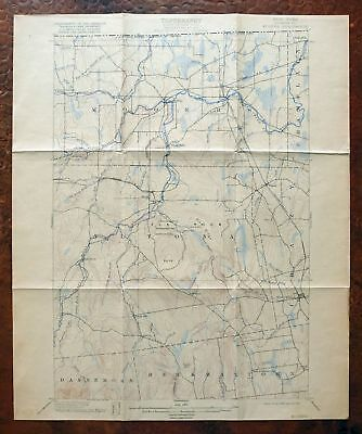 Mooers New York Antique USGS Topo Map 1899 Altona West Beekmantown Topographical