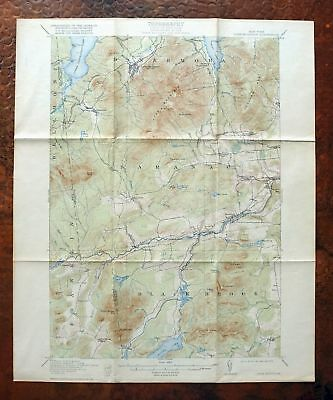 Lyon Mountain New York Antique USGS Topo Map 1913 Dannemora Redford Topographic