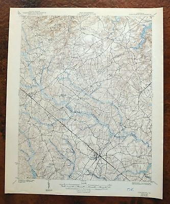 Disputanta Virginia Vintage USGS Army Corp of Engineers Topo Map 1919 Waverly