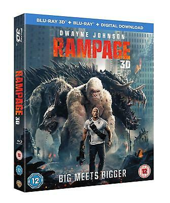 Rampage w/ Slipcover (3D + 2D Blu-ray, 2 Discs, Region Free) *NEW/SEALED*