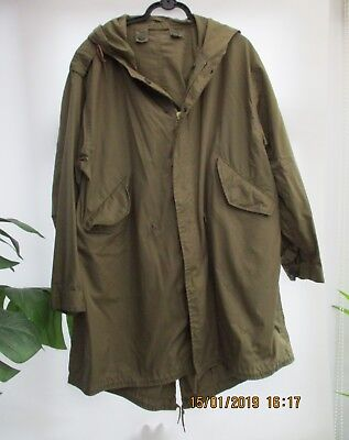 M-1951 Fishtail Parka Shell Size SMALL PLUS LINER NEVER WORN