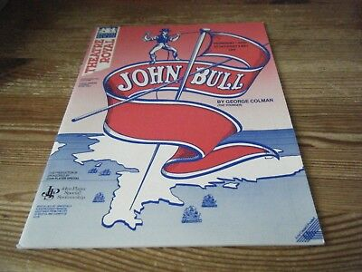 1987   Theatre  Programme   -  John  Bull  -  Bristol Old Vic - Theatre Royal