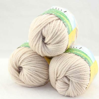Sale Lot 3 balls x 50g Quick Hand Knitting Yarn Soft Worsted Wool Silk Velvet 26