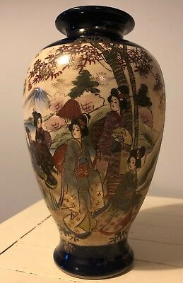 Old Signed Oriental Vase Hand Painted Chinese Japanese ?