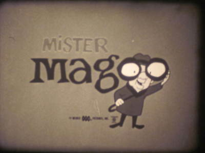 16mm sound film Mister Magoo cartoon, Safety Magoo, MM 175 with original can