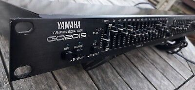 Yamaha GQ2015 graphic equalizer rack mounted in good condition