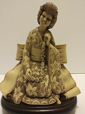 Statue of Geisha.Well made and well decorated large resin figure