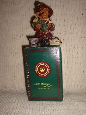 Boyd's Bears Elliot The Hero Firefighter Bearstones Collection in Box