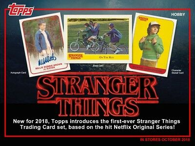 2018 Topps Stranger Things Hobby 12-Box Case