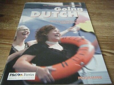 2005  Theatre  Programme  -  Going  Dutch -   Hull Truck  Theatre Company Vgc