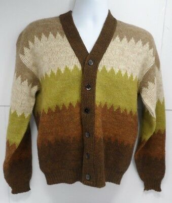 VTG Brentwood Mirapaca Mens Six Button Sweater Size Medium
