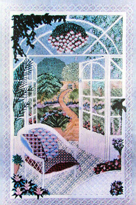 Needlepoint Pattern  Room With A View/Congress Cloth (Partially Completed)-BQ58
