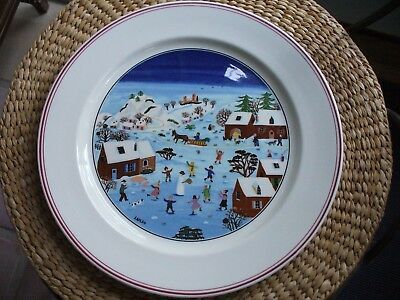 "Villeroy and Boch Naif Christmas 10.5"" Dinner Plate"