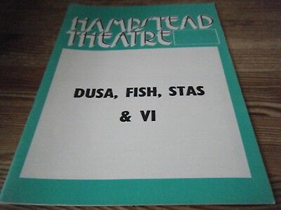 1976 - Theatre  Programme  -    Dusa  Fish  Stas And  Vi   -  Hampstead  Theatre