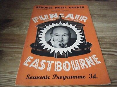 1957 - Theatre  Programme  - Fun In The Air -  Redoubt Music Garden   Eastbourne