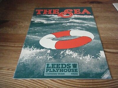 1986 - Theatre  Programme   -  The  Sea  -    At The  Leeds  Playhouse  Vgc