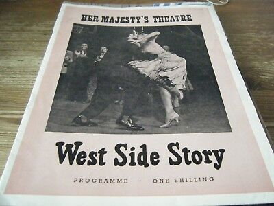 1959  - Theatre  Programme  - West  Side  Story -   Her  Majesty's  Theatre  Vgc