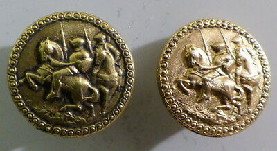 2 BOUTONS   : CHEVALIERS      19  mm       N°1120071