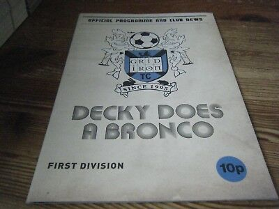 2000s   THEATRE  PROGRAMME  DECKY  DOES A BRONCO  -  GRIDIRON THEATRE CLUB