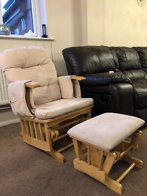Babyweavers nursing/breastfeeding glider/rocking chair With footstool