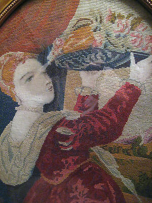 19Th C Exceptional Antique Needlepoint/petit Point French Tapestry