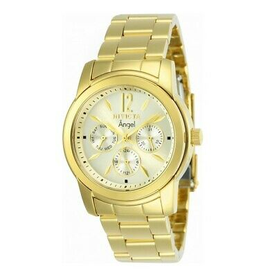 Invicta 12551 Women's Angel Gold Plated Stainless Steel Champagne Dial Watch