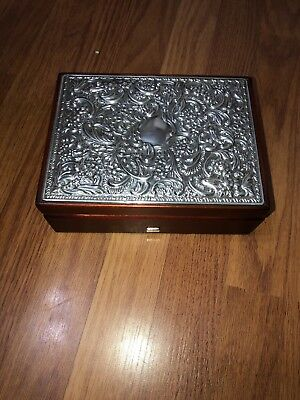 Sterling Silver Lidded Jewellery Box - Carrs Silver