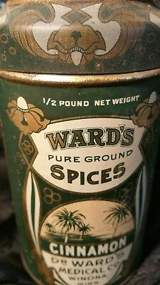 VINTAGE DR.WARD'S MEDICAL CO. PEPPER spice TIN shaker container WINONA,MINN. MN