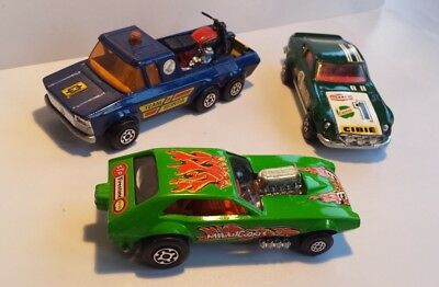 Konvolut-Matchbox Superkings K-52 Datsun 240-K-39 MILLIGANS Dragster-K-6 Pick Up