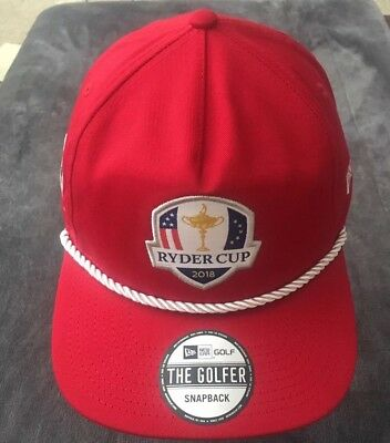 ac0e8fff7 Ryder Cup 2018 The Golfer Shield New Era Snapback Rope Hat Scarlet Red