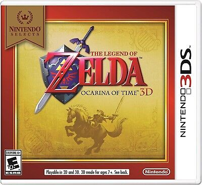 NEW Sealed The Legend of Zelda Ocarina of Time 3D Nintendo Selects 3DS