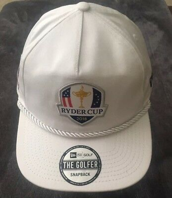 Ryder Cup 2018 The Golfer Shield New Era Snapback Rope Hat White eaccc4658040