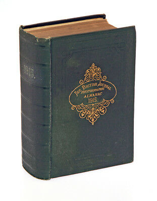 Vintage 1915 edition of The British Journal Photographic Almanac (1068 pages)