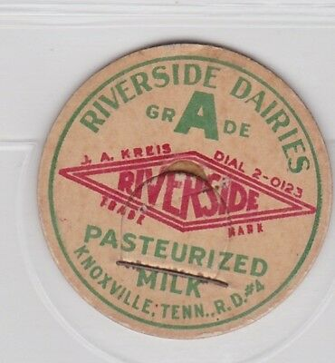 Riverside Dairies milk cap-Knoxville, Tennessee