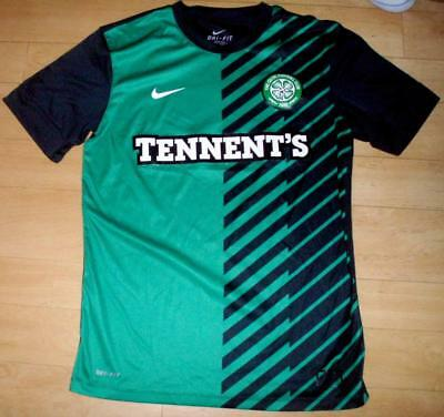 Celtic FC 2010-11 Mens Medium training football soccer shirt Nike Glasgow hoops