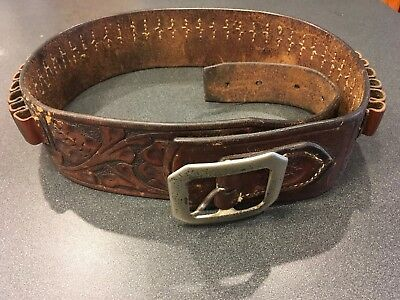 Vintage Maker Marked A. H. Hardy Western Cartridge Belt Great Condition
