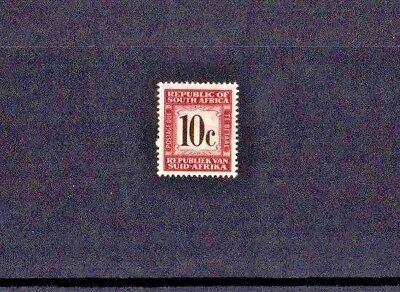 SOUTH AFRICA 1961  SG No D50 - 10 cent - POSTAGE DUE STAMP - FINE USED CONDITION