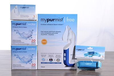 Mypurmist Free Ultrapure Handheld Steam Inhaler Personal Natural Relief Cordless