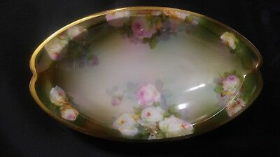 Antique/Vintage Roses Prince Regent Bavaria Oval Serving Tray Dish Plate Germany