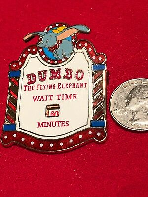 1 Disney Pin Limited Edition 3D Spinner Dumbo ride Wait Time lot RT