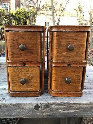 Antique Singer Sewing Machine Oak Drawers