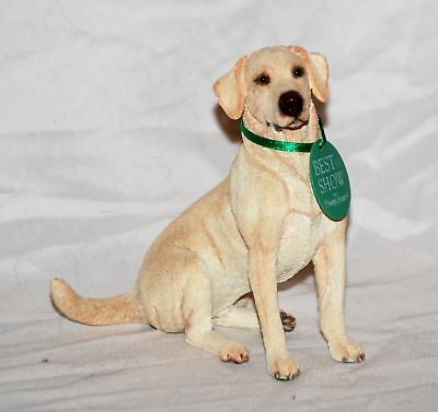 Country Artists Yellow Lab Sitting - Best in Show - New in Box