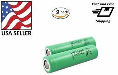 2 18650 Samsung 25R 2500mAh 35A Rechargeable Battery for Vape Mods