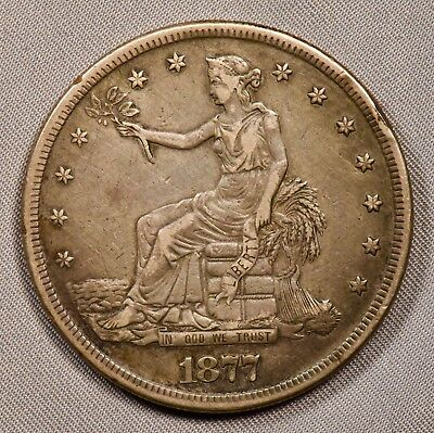 1877-S United States TRADE DOLLAR in XF extra fine or so