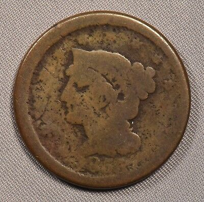 1853 (I think)  Coronet Large Cent in POOR condition