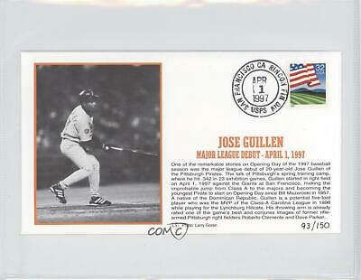 1997 Little Sun Baseball Silk Postal Caches JOGU Jose Guillen Pittsburgh Pirates