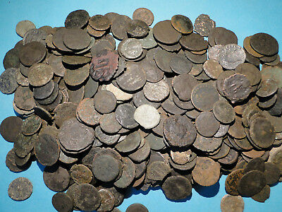 10 Roman Bronze Coins, Mixed Sizes and Grades