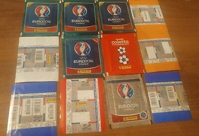 PANINI - EURO 2016 - 14 bustine differenti - 14 different sealed packets !!!