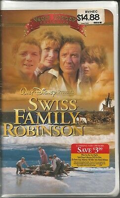 Swiss Family Robinson VHS New 2002 Disney Orig Clam Shell Case Vault Collection