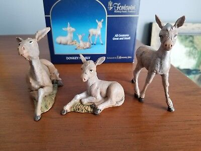 Fontanini  nativity set Donkey Family